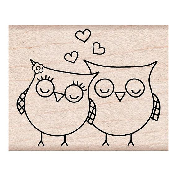 Hey, I found this really awesome Etsy listing at https://www.etsy.com/listing/122939987/heart-owls-stamp-love-birds-woodblock