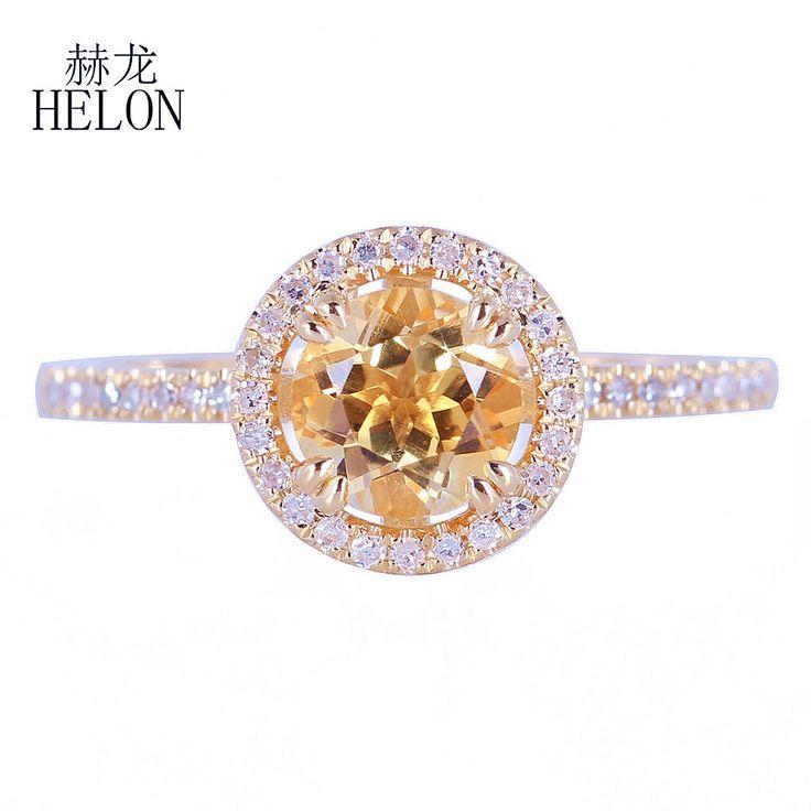 HELON Fine Diamonds Halo Engagement Wedding Ring <b>Solid</b> 14k ...