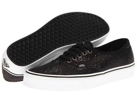 Vans Authentic Glitter Black Micro Dots | Sparkly vans, Homecoming ...