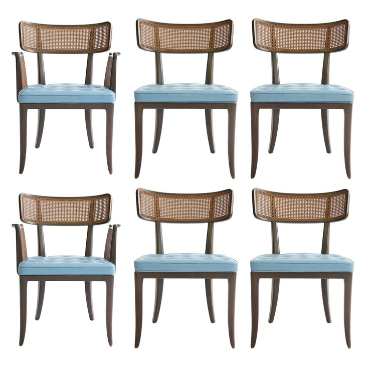 Edward Wormley Super Curve Dining Chairs, Set of Six | From a unique collection of antique and modern dining room chairs at https://www.1stdibs.com/furniture/seating/dining-room-chairs/
