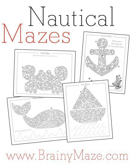 Image result for free nautical printable kid activities