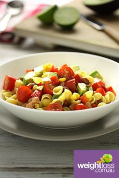 Four Bean Pasta Salad. #HealthyRecipes #DietRecipes #WeightLossRecipes weightloss.com.au