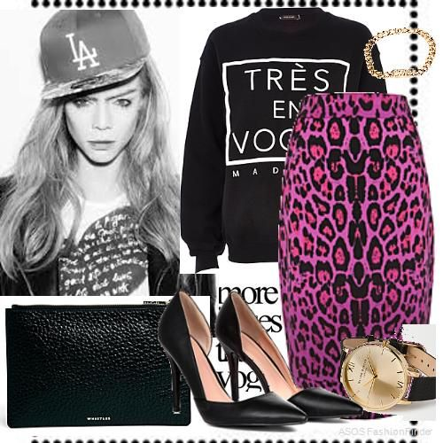 Black leopard | Women's Outfit | ASOS Fashion Finder
