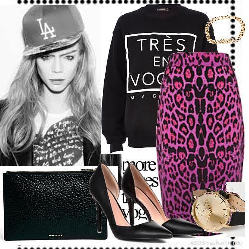 Black leopard | Women's Outfit | ASOS Fashion Finder