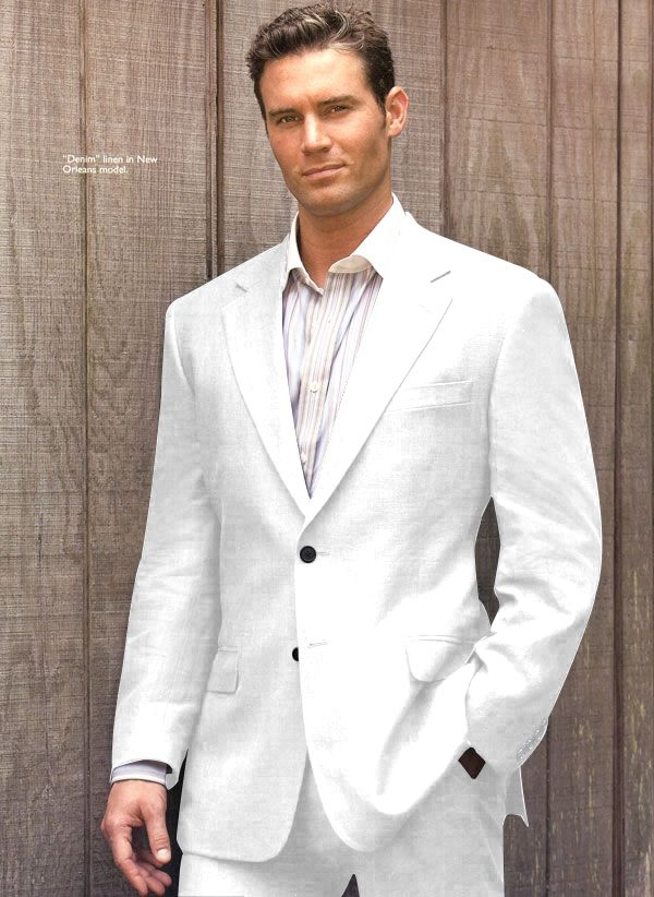 All white men's suit. If someone wanted to get this for me I would love them!