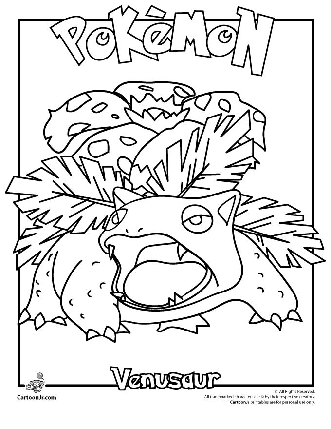 Venusaur Pokemon Coloring Page   Superhero coloring pages ...