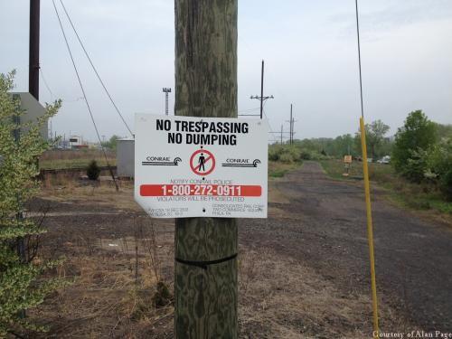 CR No Trespassing No Dumping signs Morrisville, PA 5-10-2014