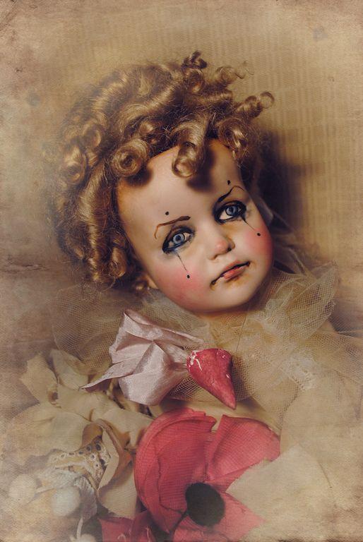 Купить Коломбина.Старый Цирк. - брусничный, клоун, коломбина, пьеро, кукла…