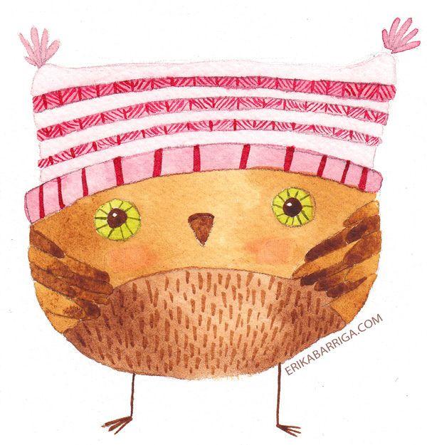 cute owl by Erika Barriga