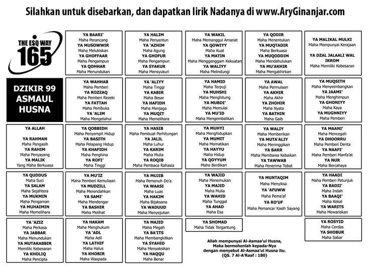 Download Asmaul Husna Ary Ginanjar Agustian berformat mp3