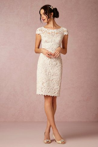 Ideal for the older bride, or a bride looking for something simple. Short gowns don't have to be fit and flare.