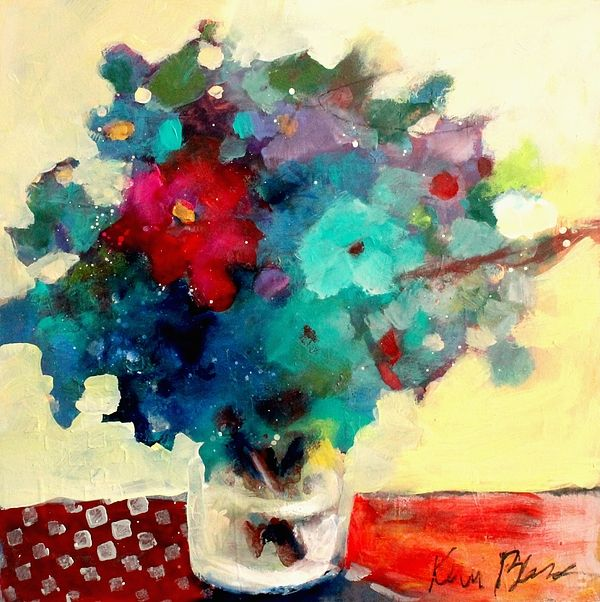Always Room For More Flowers By Kerri Blackman Loose Colorful Abstract Floral Still Life
