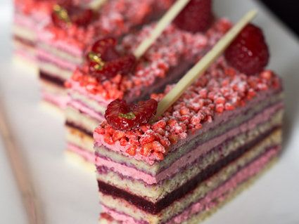 Red Opera Cake and oh so many more beautiful pastries to try! Also has a Sacher Tort recipe.