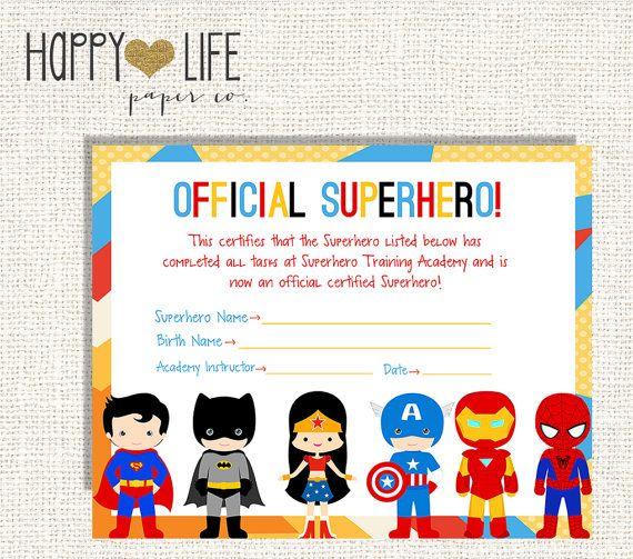 SUPERHERO Training Camp Game PRINTABLE by myhappylifedesigns