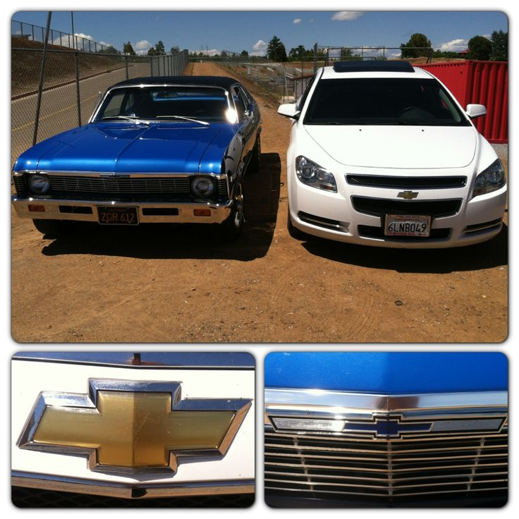 My boyfriend and mines cars. Chevy lovers for sure. 1969 Nova & 2010 Malibu