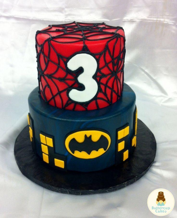 coloring pages batman spiderman cakes - photo#42