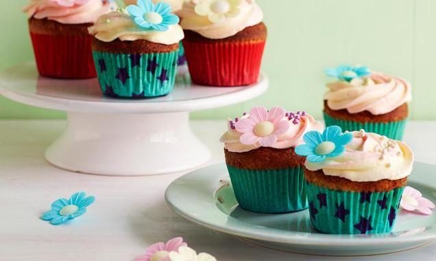 Marguerit-cupcakes - citron og mandel