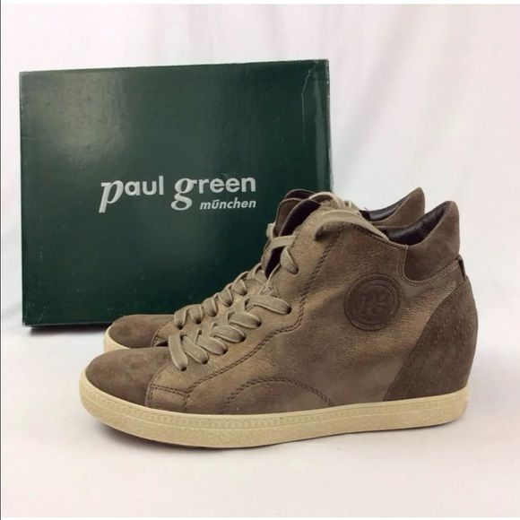 paul green palma suede sneakers sz 7 5 paul green size marked on shoes. Black Bedroom Furniture Sets. Home Design Ideas