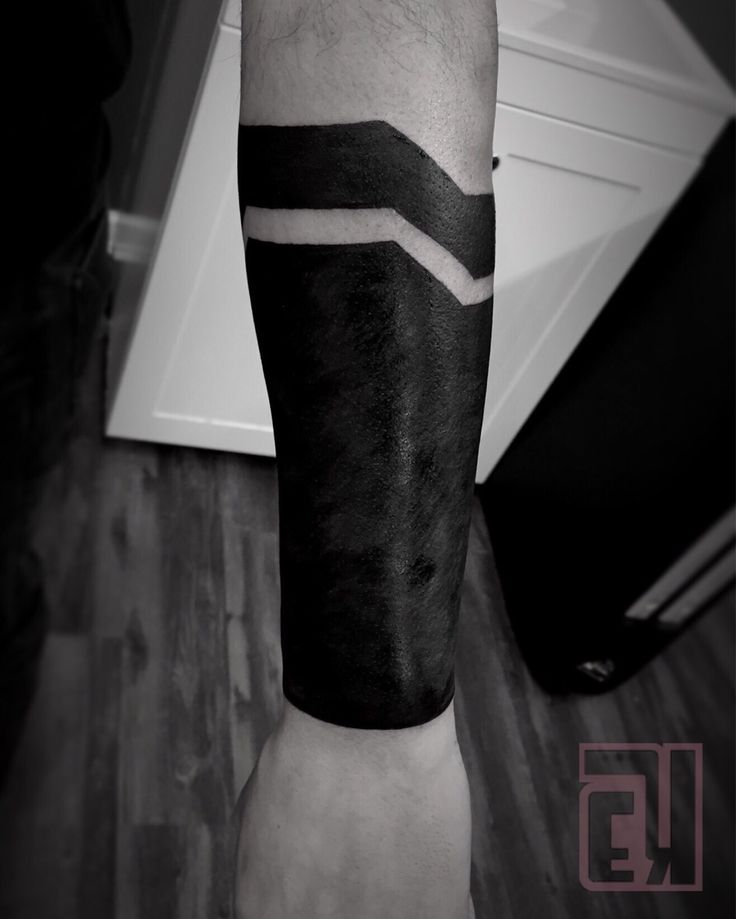 Black Friday! Blacked out half of my client's sleeve and he sat like a champ #eyeKANDI #eyekandiink #ink