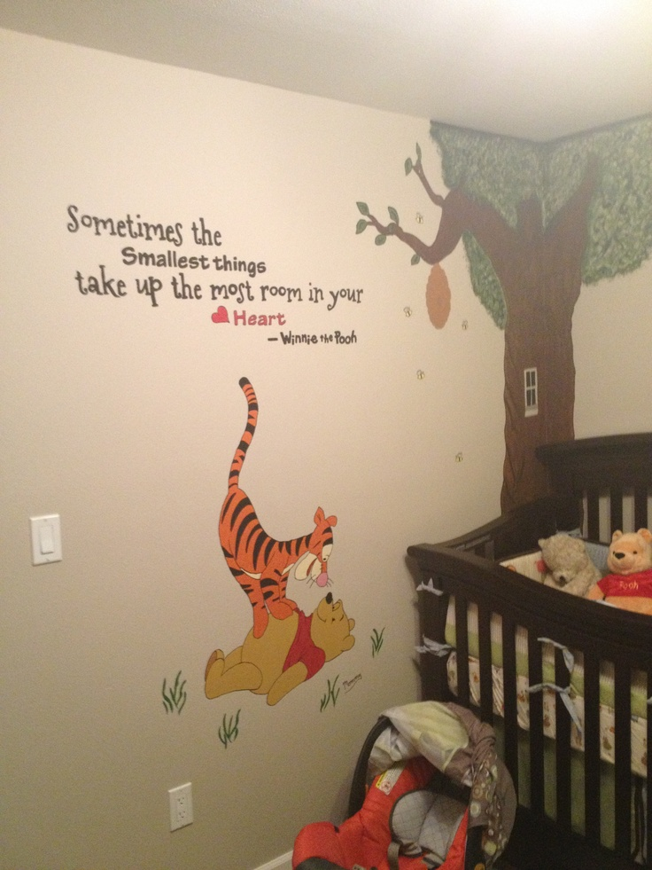Nursery mural done with a projector diy projects done w for Best projector for mural painting