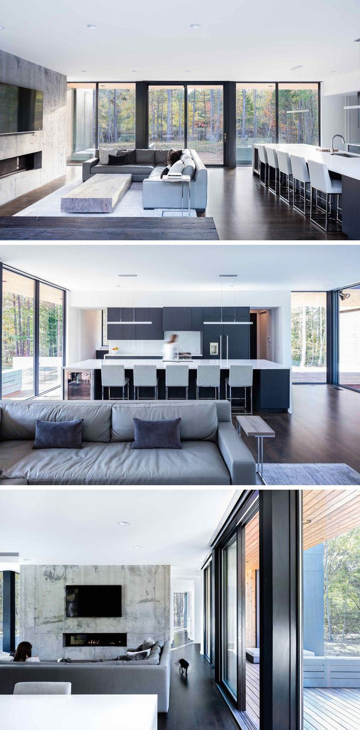 Inside This Modern House The Living Room And Kitchen Share Same Space