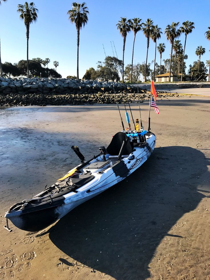 """This is one of the most stable kayaks out there.  The Malibu X-Factor all rigged out and ready to fish.  At 14'-4"""" long and 33"""" wide, this is a great fishing platform!"""