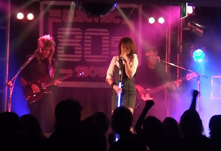 Electric 80s rocking Boys in Town, Chrissy Amphlett - check the glowing mic stand (just like Chrissy had on stage)!
