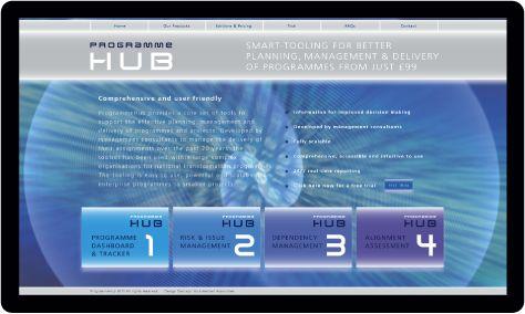 ProgrammeHub website and digital media designed by Nick Herbert Associates web designers