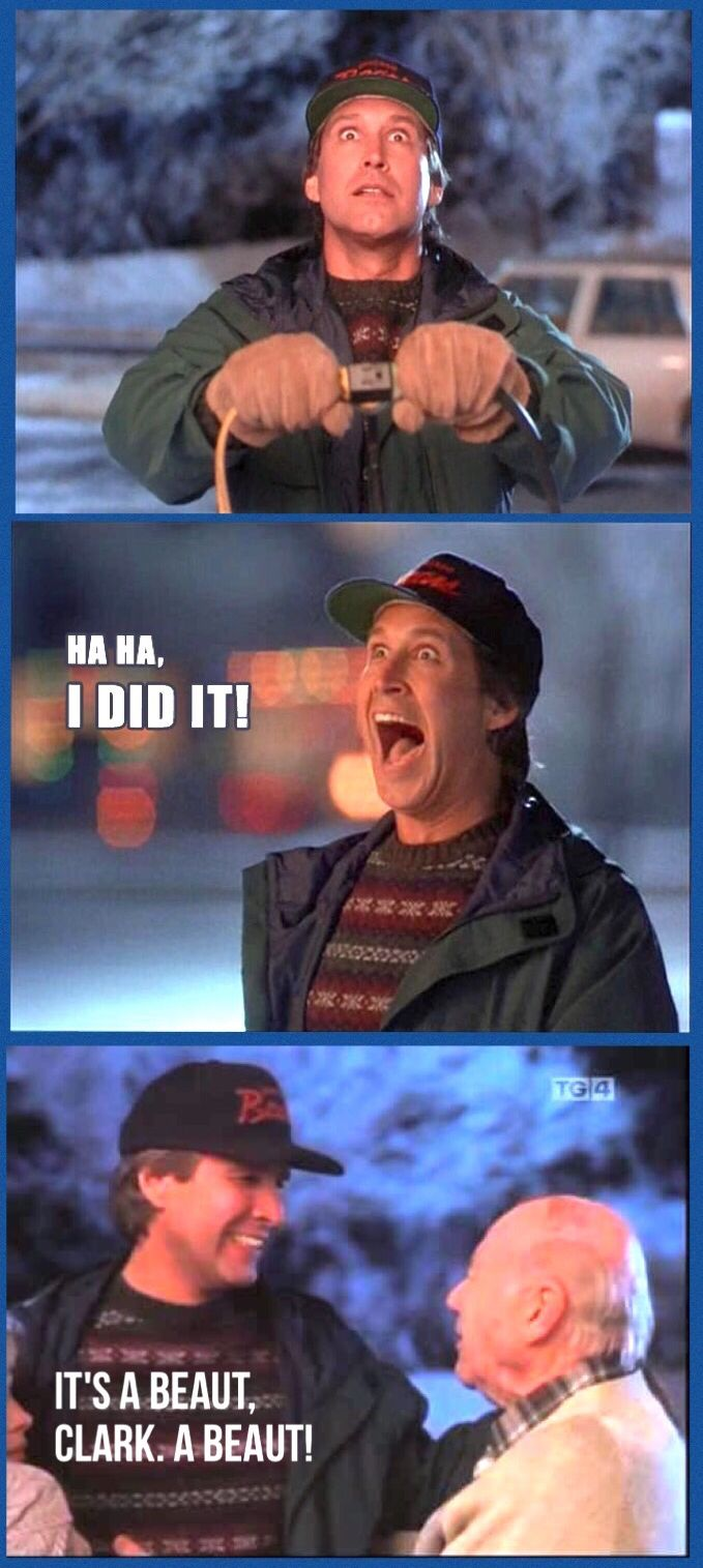 27 best christmas vacation images on pinterest christmas christmas vacation 1989 clark ha ha i did it clark 1betcityfo Images