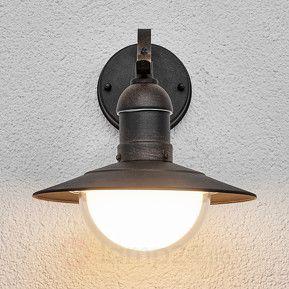 LED-utomhusvägglampa Clea i antik stil