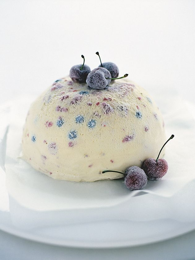 frozen berry pudding