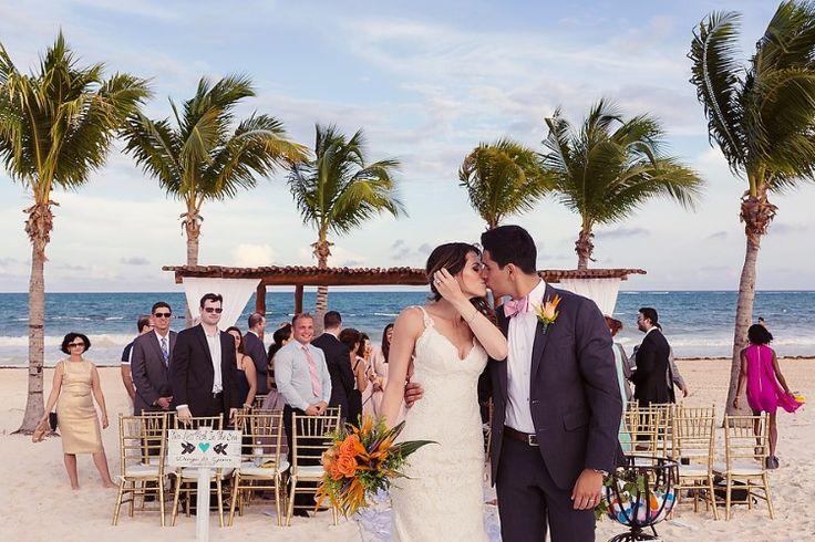 Cancun Destination Wedding at Secrets Maroma Beach, MX  Stunning small destination wedding!   Photographer: Quetzal Wedding Photo