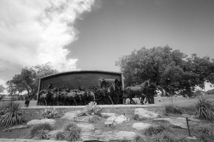 June 29, 2015. An infrared view of the On the Chisholm Trail bronze.