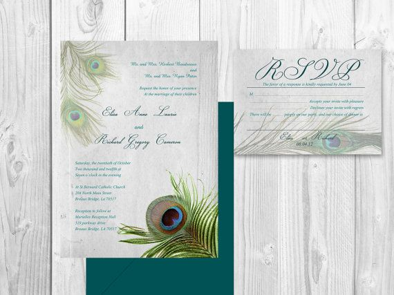 Atlanta Wedding Invitations: PEACOCK WEDDING INVITATION Printable