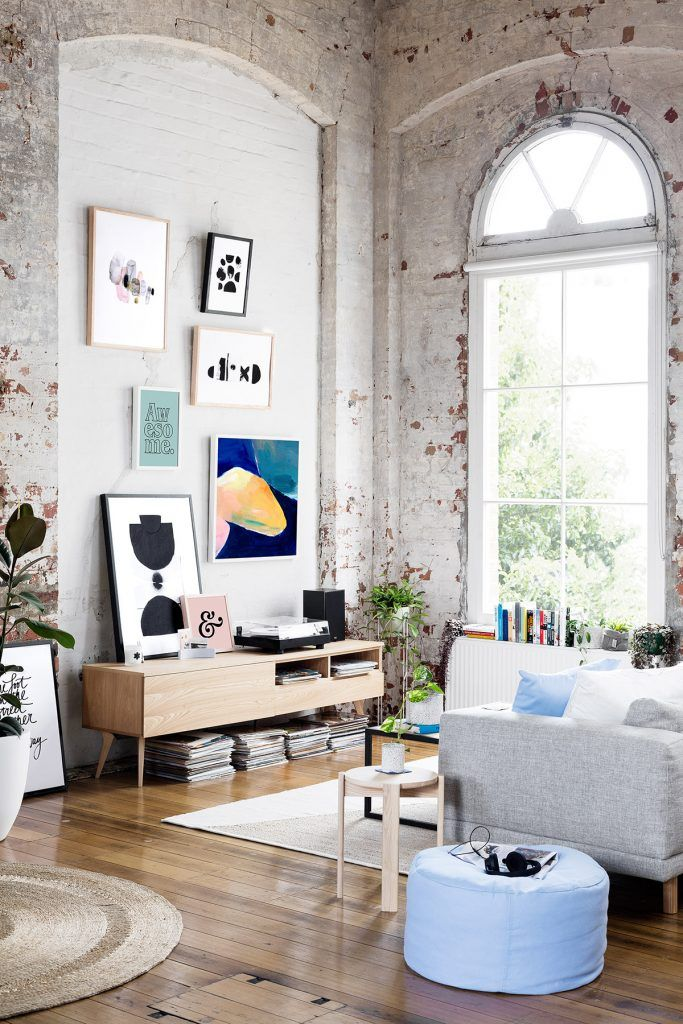 Hunting for George did it again! Exactly one year ago I posted an amazing loft apartment designed by the Australian homeware and furniture supplier. This year they've decorated a stunning warehouse ap