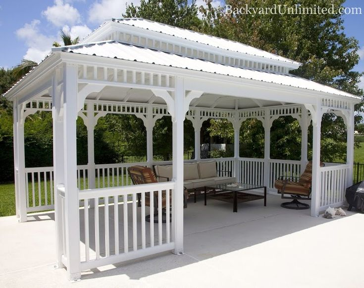 vinyl rectangle country style gazebo with metal pagoda. Black Bedroom Furniture Sets. Home Design Ideas