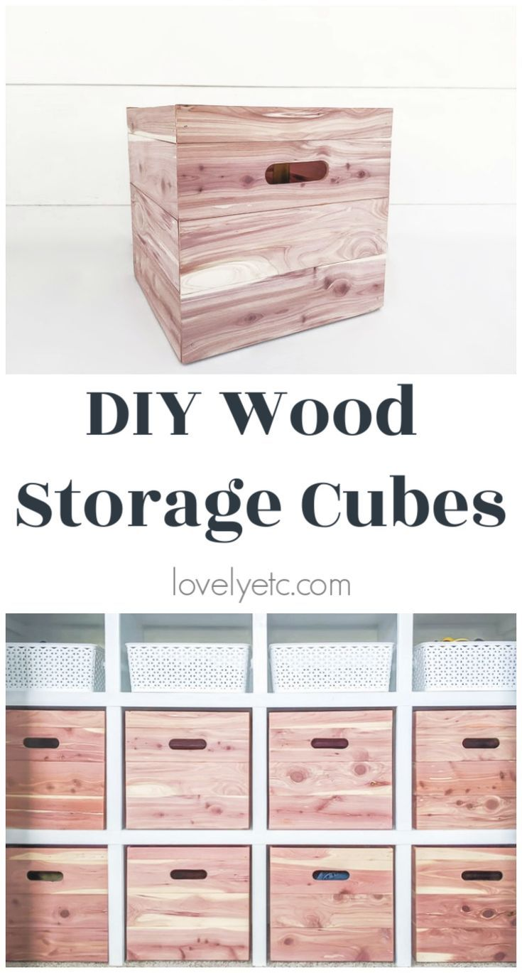 How To Make Wood Storage Cubes In Any Size Lovely Etc In 2020 Diy Cube Storage Cube Storage Wood Storage