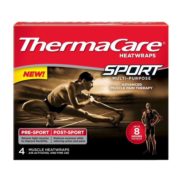ThermaCare 4 Count Heat Pack Sport Muscle Pain Therapy