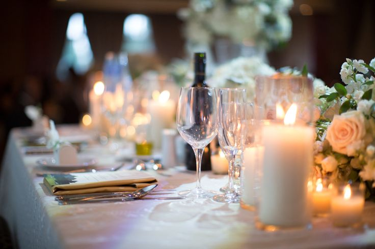 Wedding reception at Copper Creek, love the warm glow from the candles.