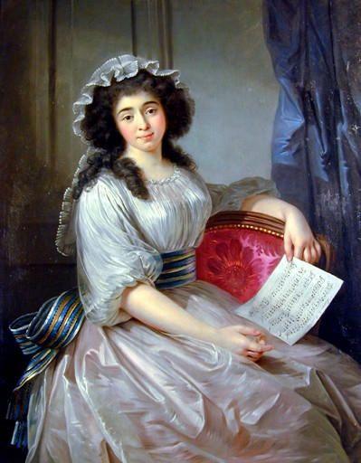 """Marie Thérèse Eléonore Guignon dite & """"Mlle Lescot"""", circa 1787 by Joseph Roques (Musee du Vieux-Toulouse)"""