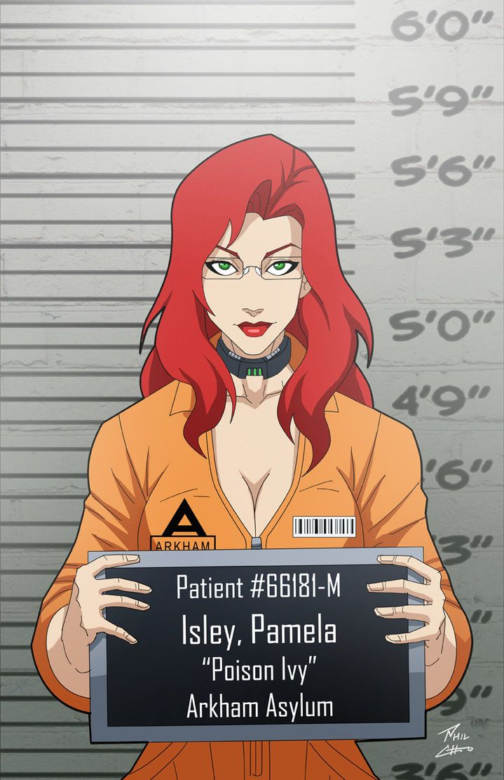 Pamela Isley locked up by phil-cho on DeviantArt - Dc comics