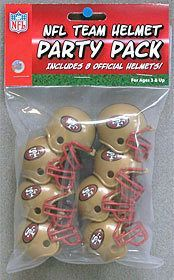 San Francisco 49ers Team Helmet Party Pack