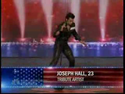 American Got Talent S3 Elvis Presley.  great fake Elvis- I'm a huge Elvis fan and this guy is the best i've seen