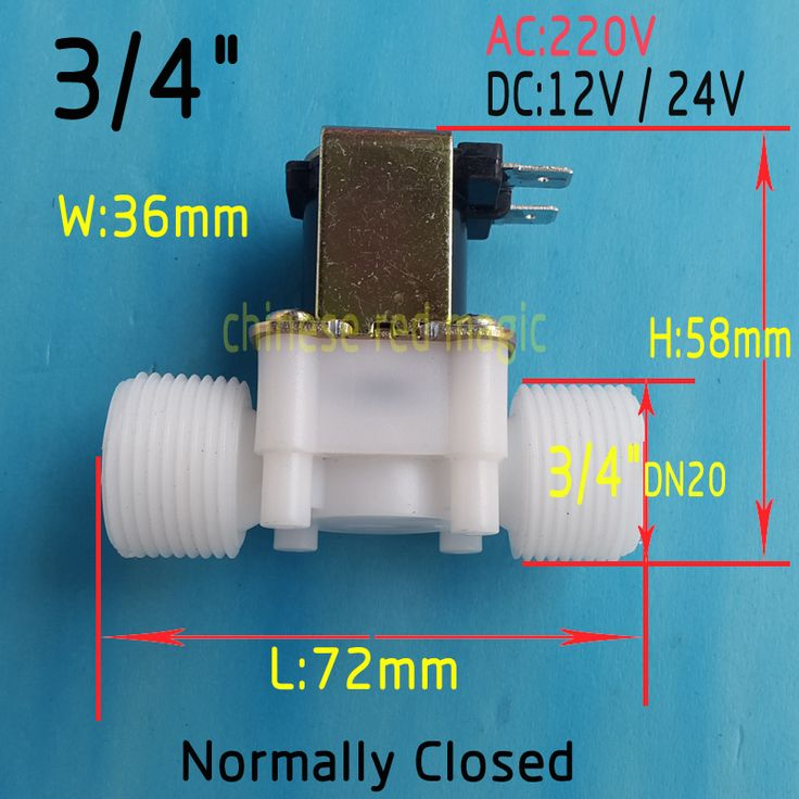 "solenoid valve coil 3/4"" DC 12V 24V or AC220V Electric Solenoid Valve Normally Closed N/C Water Inlet Flow Switch 0.02 - 0.8Mpa"