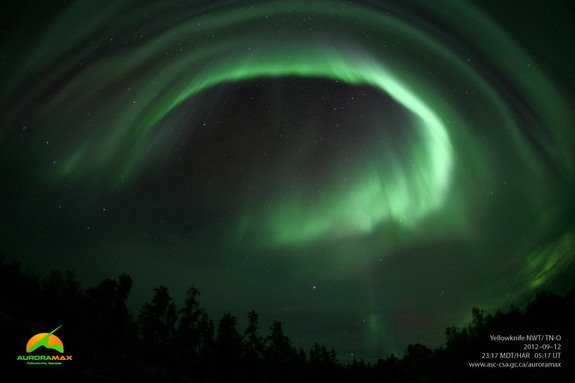 Aurora over Yellowknife, Canada: Circles, Auroramax Image, Canada, Auroramax Observatori, Northern Lights, Aurora Borealis, Lights Rai, September 12, Fall Equinox