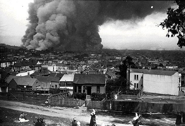 1906 earthquake/fire in san francisco