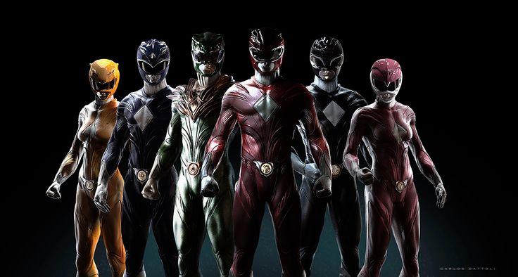 """Power Rangers"" Redesign on Behance"