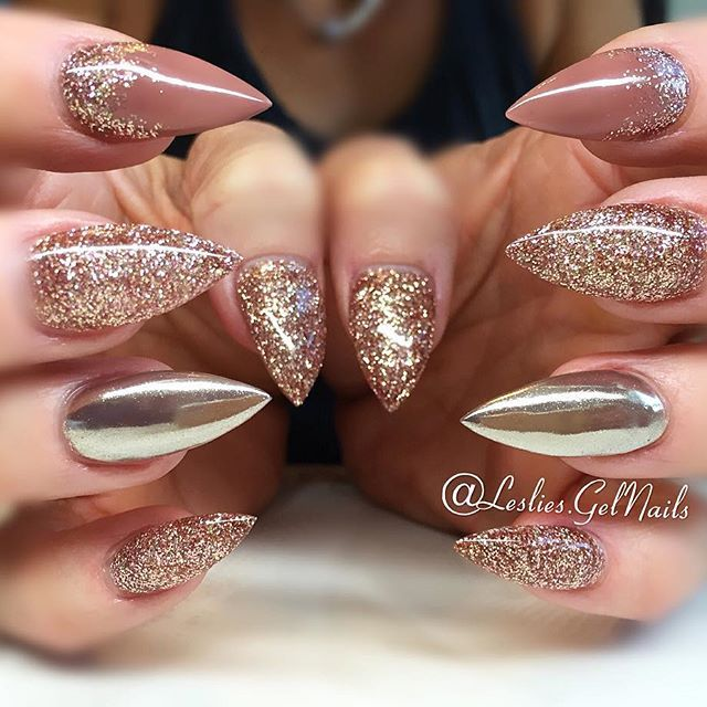 click through the post and you may get glitter nail art that you will love - Best 20+ Stiletto Nails Glitter Ideas On Pinterest Unicorn Nail