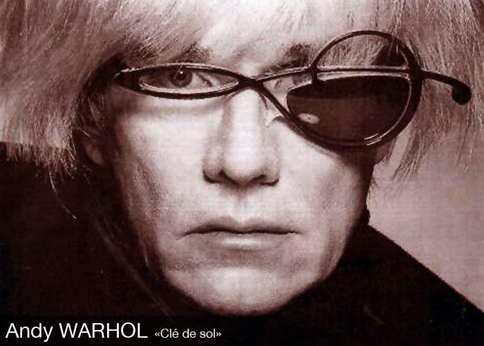 #Andy Warhol in Alain Mikli   #Clé de sol