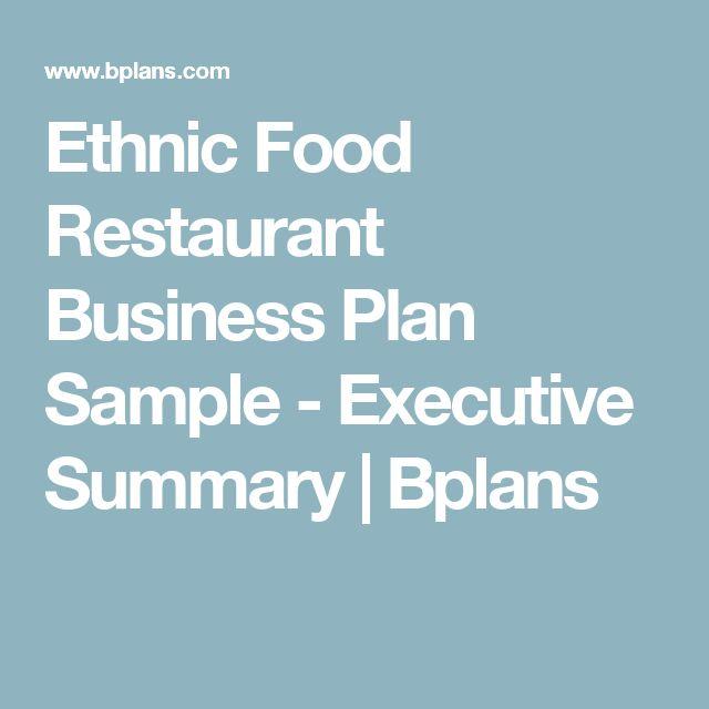 The 25+ best Restaurant business plan sample ideas on Pinterest - sample resume for restaurant